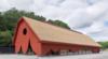 Red Wooden Curtain Surrounds Nature Reserve Entrance Pavilion By Sandellsandberg