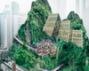 Solidsprout Reimagines Bangkok's Shopping Malls As Mountains Of Greenery