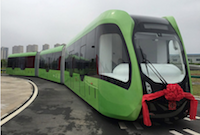 Self Driving Rail Bus in China