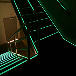 Lit Stairs