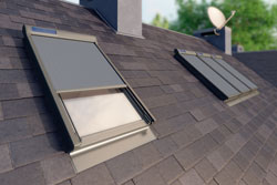 Skylights on roof