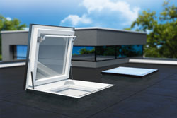Open white roof window