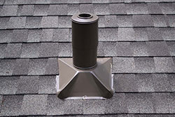 Close up of roof with brown vent