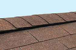 Close up of ridge vent on roof