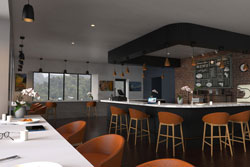 Cafe interior space