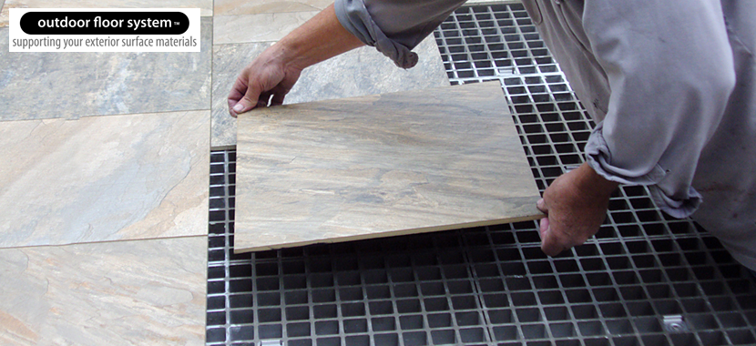 Elevated Outdoor Flooring System for Stone and Tile