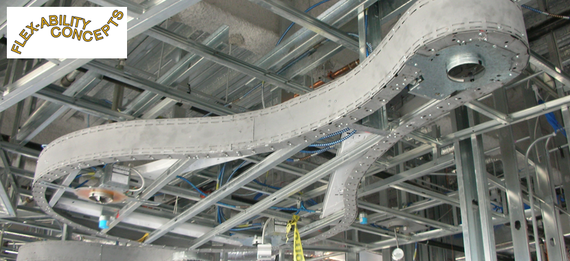 Creating Curved Wall and Ceiling Features with Flexible Track Systems